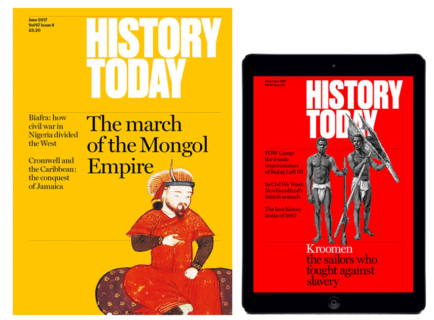 History Today print and digital magazine