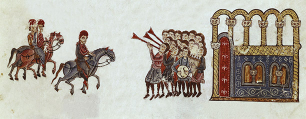Grand entrance: the Emperor Nicephorus rides into Constantinople in 963. From the 13th-century Chronicle of John Skylitzes