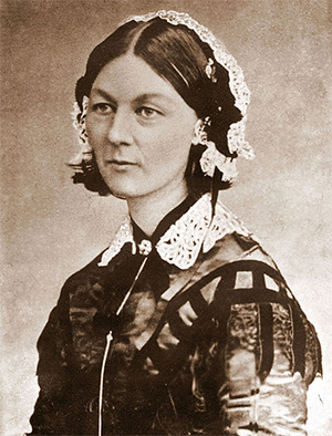 Florence Nightingale from Carte de Visite, circa 1850s