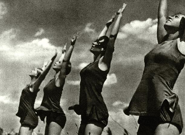 Body beautiful: a still from Leni Riefenstahl's Olympia