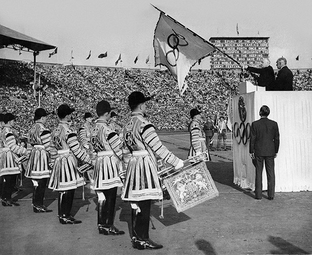 The closing ceremony of the London Olympics, August 14th, 1948. Getty Images/Popperfoto