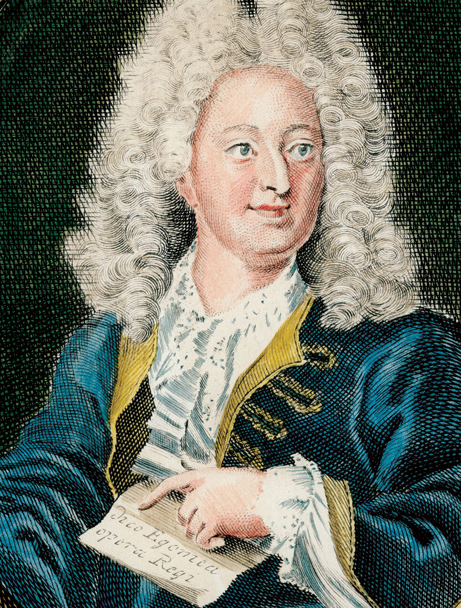 Contemporary engraving of John Law after Hyacinthe Rigaud.