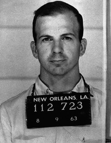 Lee Harvey Oswald's mugshot following his arrest for disturbing the peace in New Orleans, August 9th, 1963