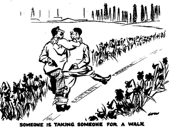 Cartoon by David Low, published in the Evening Standard on 21 October 1939.