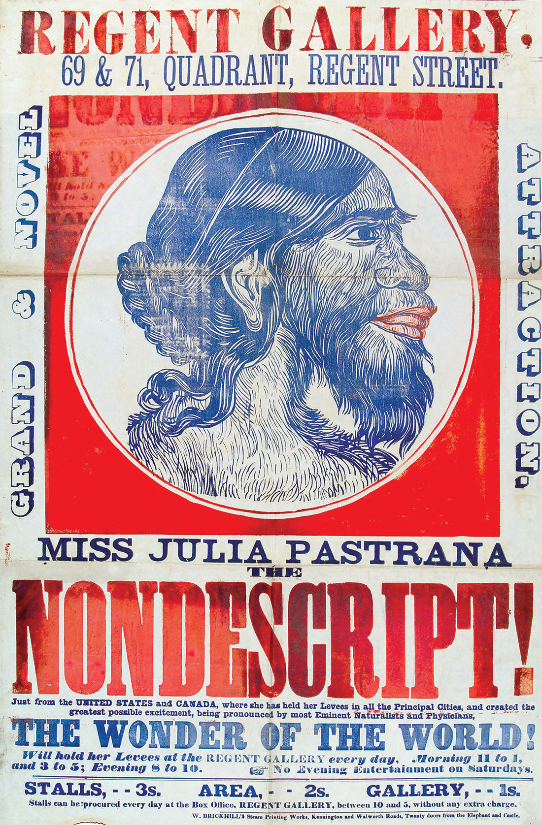 Miss Julia Pastrana, advertisement, 19th century.