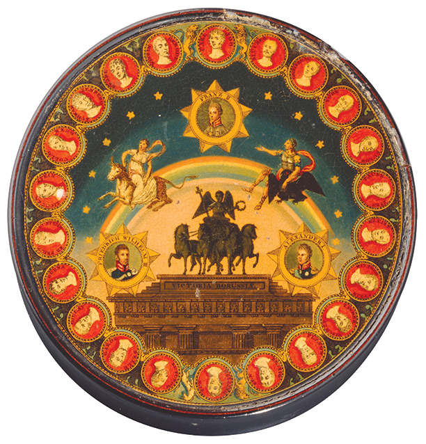 German box commemorating the Holy Alliance of 1815 between Russia, Austria and Prussia. Bridgeman/Deutsches Historisches Museum, Berlin