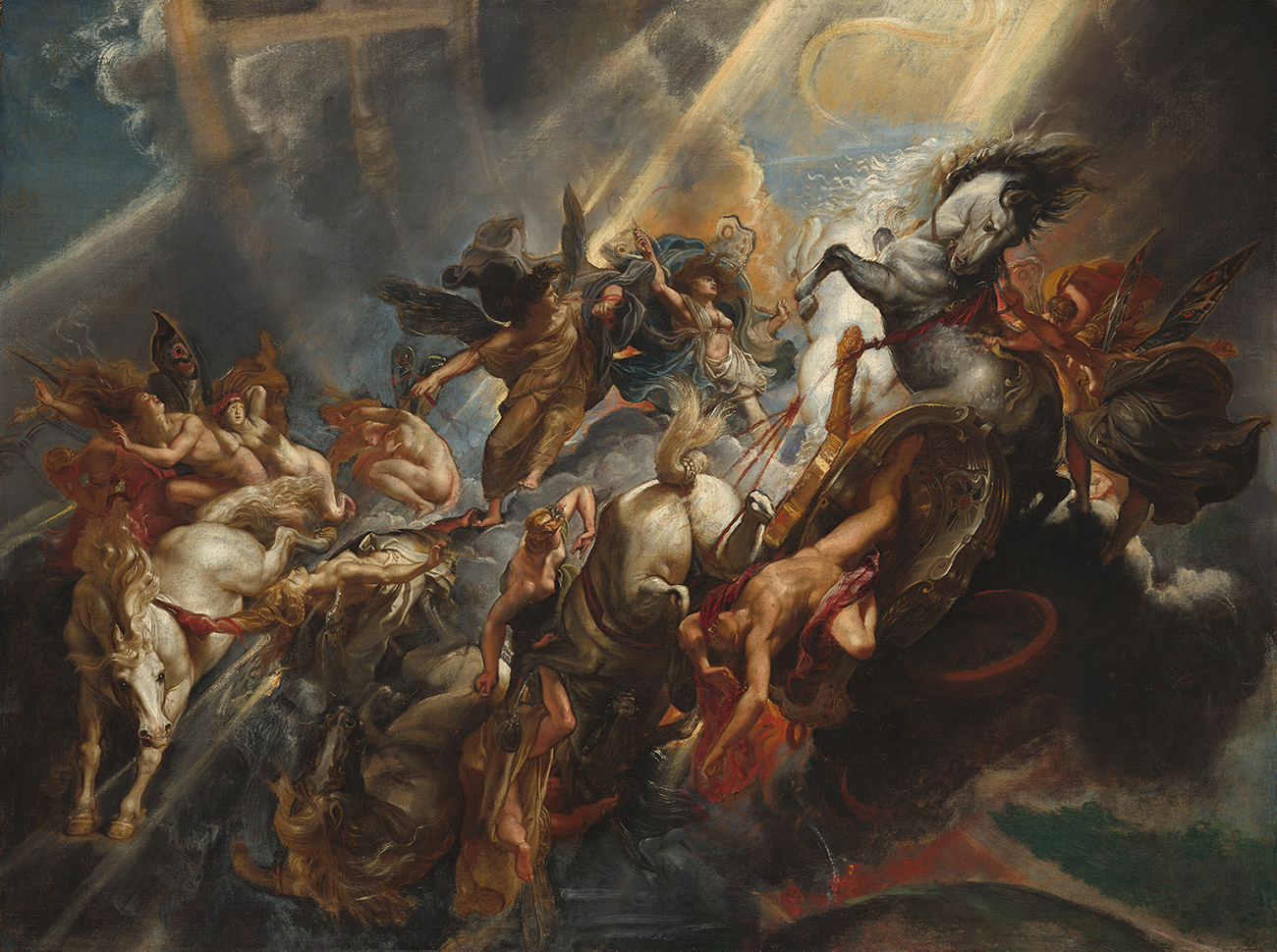 The Fall of Phaeton by Peter Paul Rubens, 1605, now in the National Gallery of Art, Washington DC.