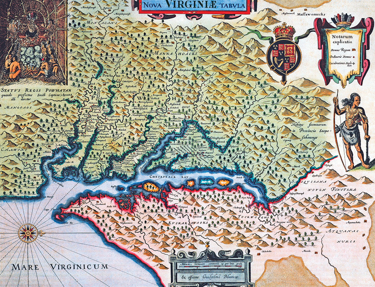 Map of Virginia, from the Atlas Maior by Joan Blaeu, 1665.