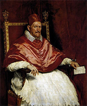 Pope Innocent X, painted by Diego Velazquez circa 1650