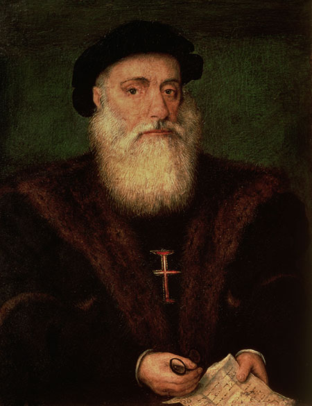 Anonymous portrait presumed to be of Vasco da Gama, c.1524.