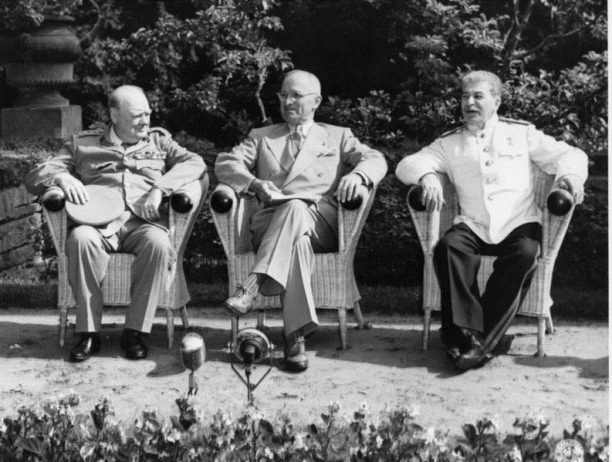 Churchill, Truman and Stalin at the Potsdam Conference, July 1945
