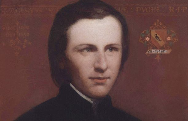 Pugin c. 1840; detail from an oil painting at the National Portrait Gallery