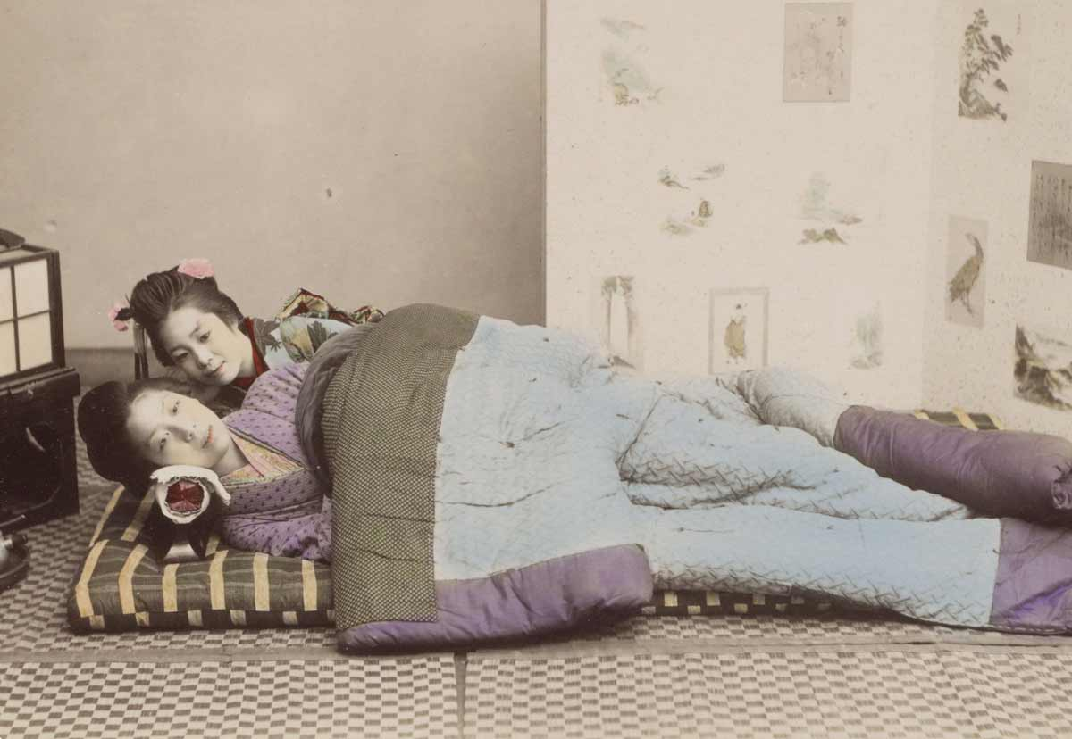 'The Girls in Bed', Japan c.1870. Rijksmuseum.