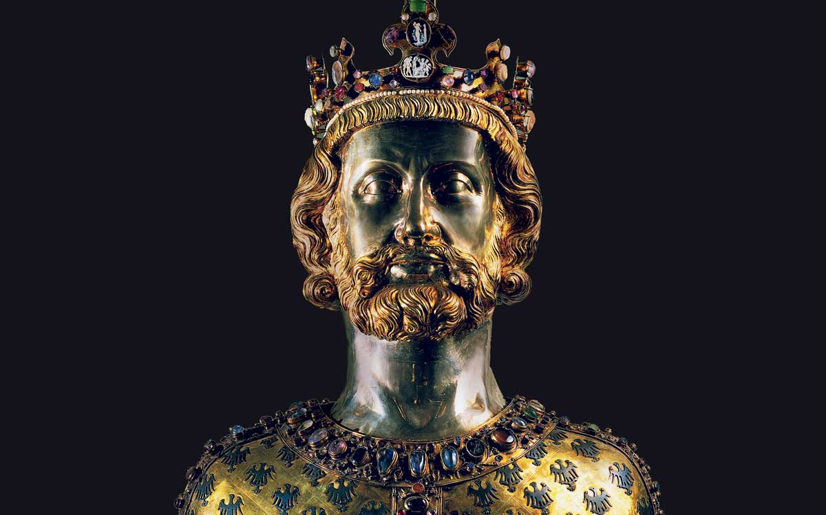 Relic bust of Charlemagne, 1349 © Bridgeman Images