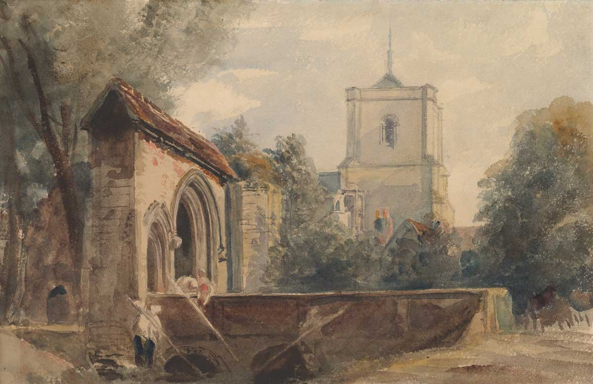 Waltham Abbey, Essex, c.1840, Peter De Wint. Metropolitan Museum of Art, New York.