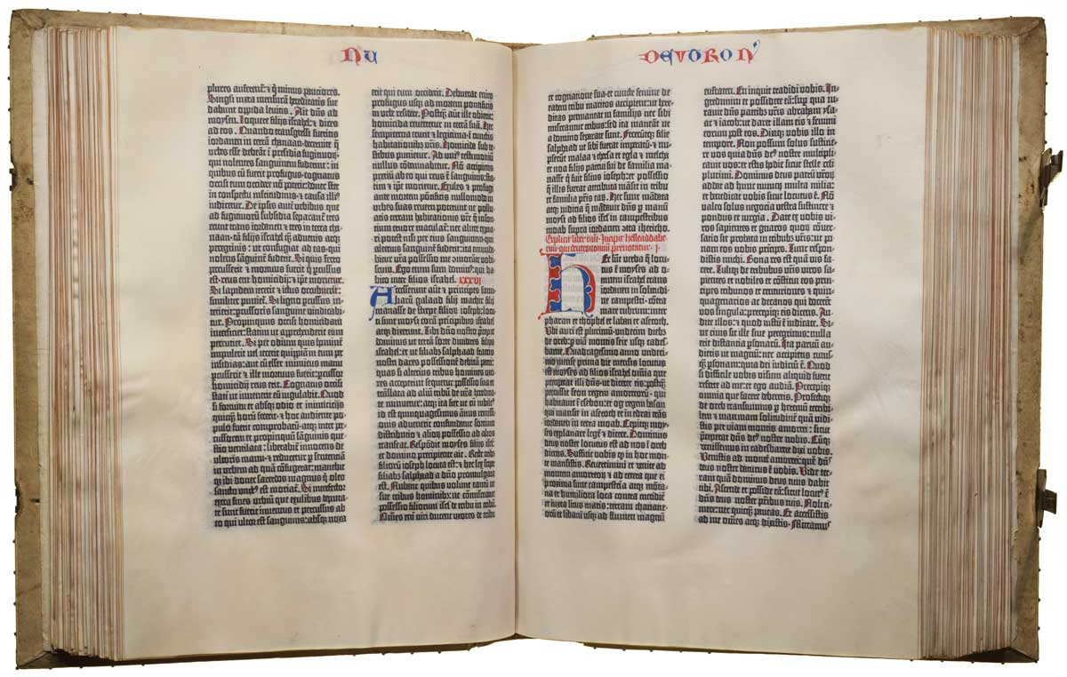 The '35th' Gutenberg Bible, from the collection of the Library of Congress.