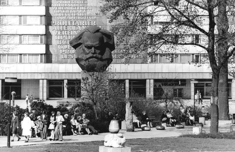 Karl Marx Monument, Chemnitz. Wiki Commons.