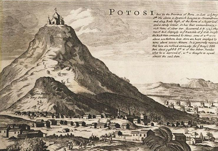 Potosi, from a Map of South America, London c.1715