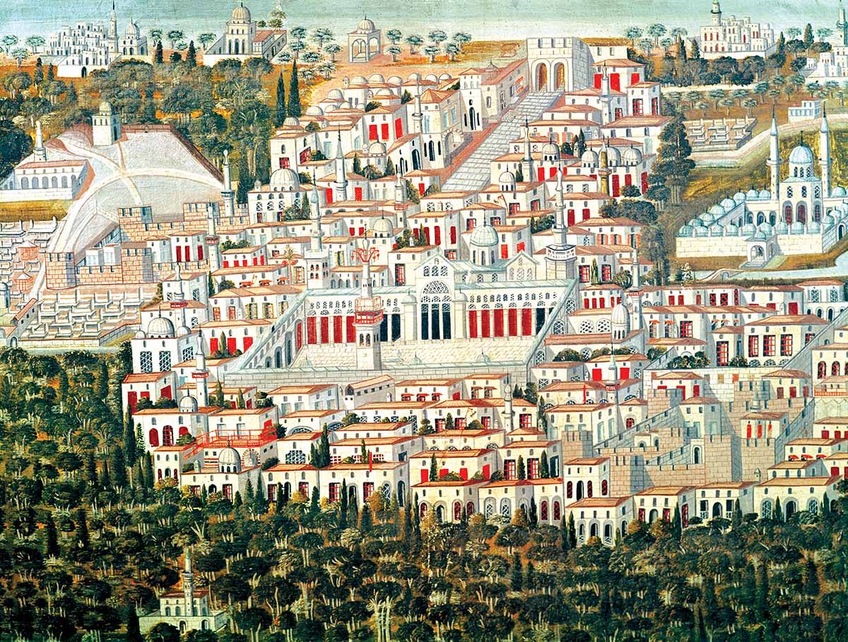 View of Damascus, 17th century © Bridgeman Images