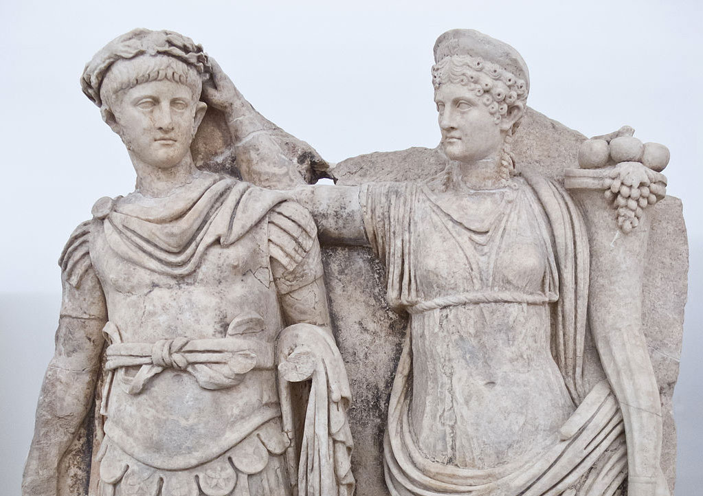 Sculpture of Agrippina crowning her young son Nero (c. 54–59 AD)