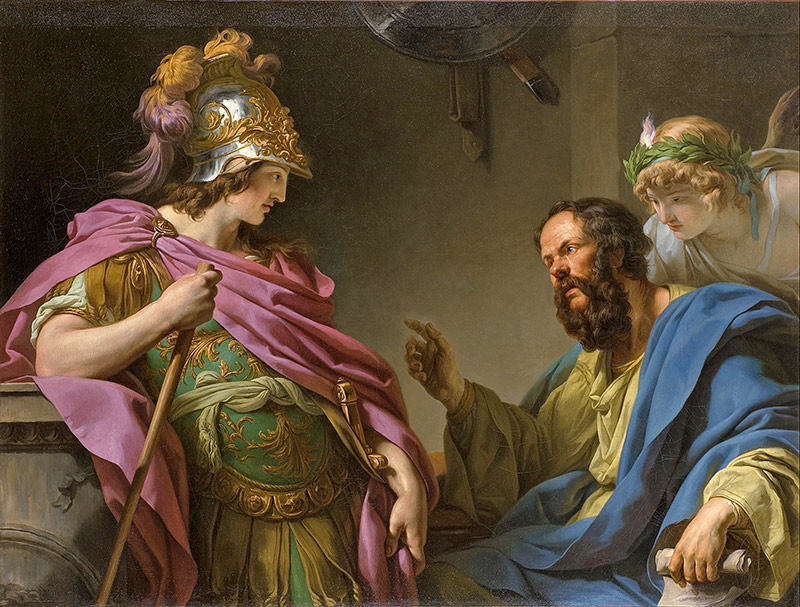 Alcibiades being taught by Socrates, by François-André Vincent, 1776.