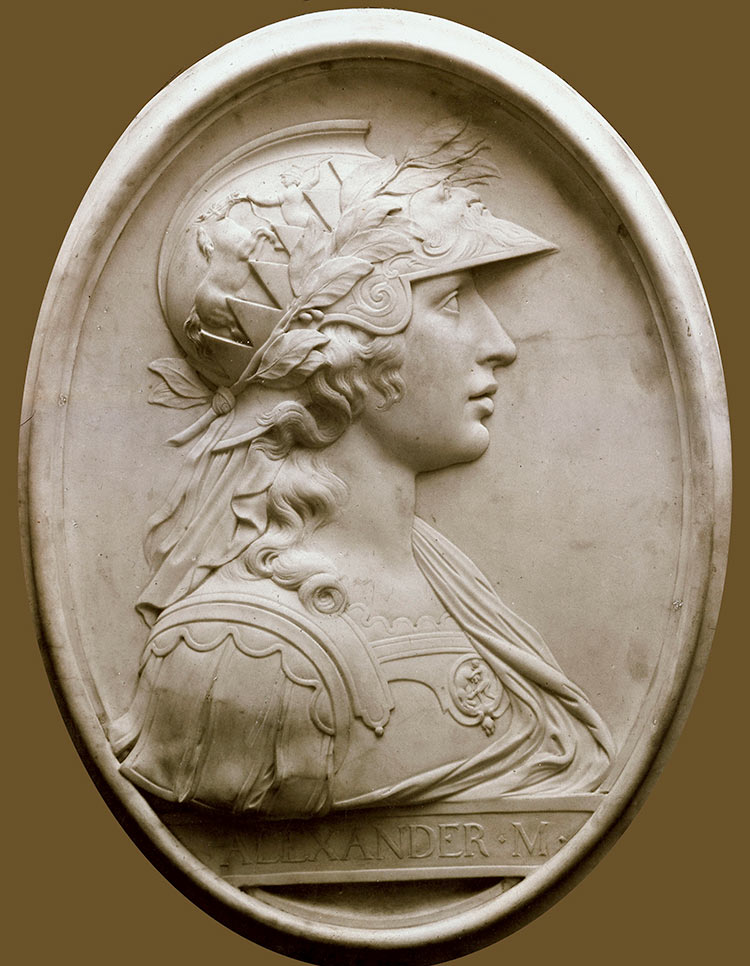 Idealised portrait relief of Alexander the Great by Landolin Ohnmacht (1760-1834).