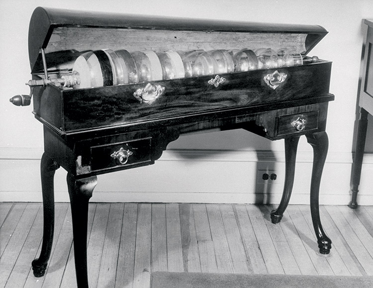Glass armonica invented by Benjamin Franklin in 1761