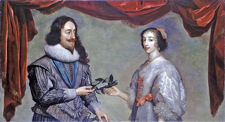 Charles I and Henrietta Maria, c.1630, by Daniel Mytens.