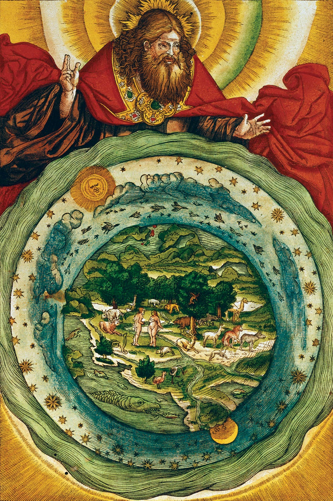 The Creation, from the Luther Bible, c.1530.