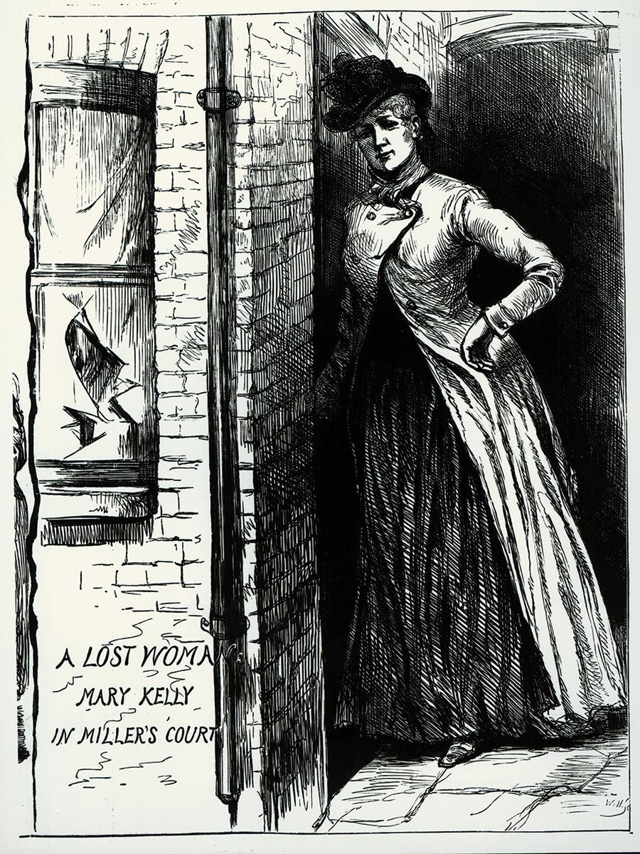 Mary Kelly in Miller's Court, London, 1888.