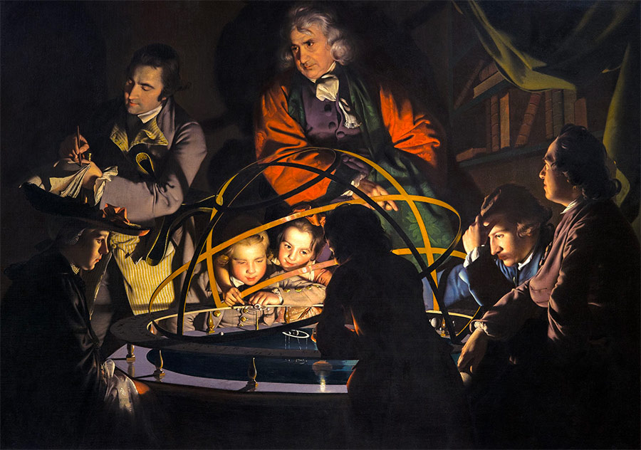 Joseph Wright of Derby, The Orrery, c.1766.
