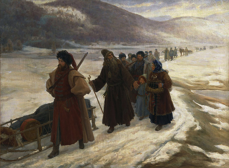 Road to Siberia, by Sergei Miloradovich.