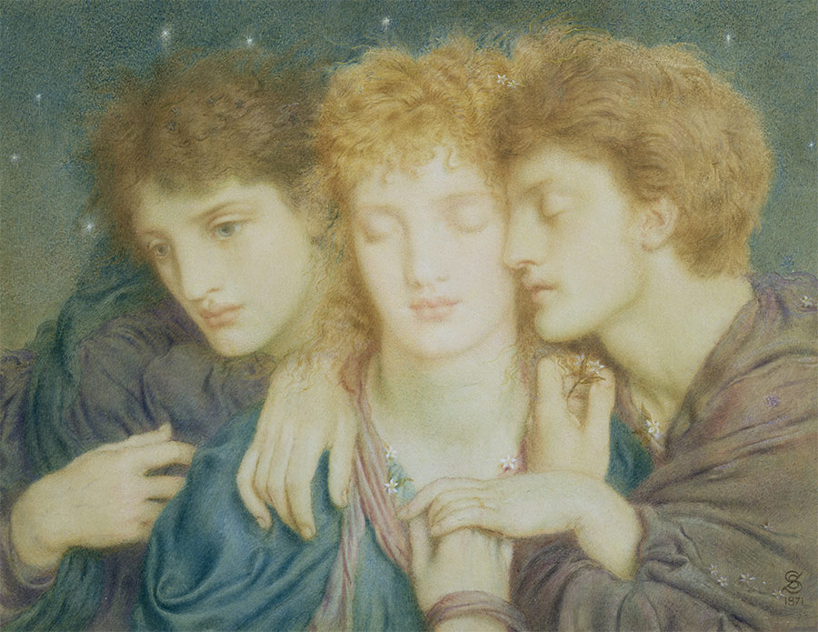 Sleepers and the One that Waketh, by Simeon Solomon, 1871.