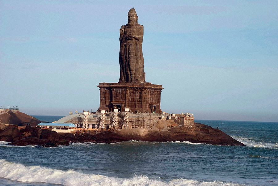 Thiruvalluvar statue at Kanya Kumari, Tamil Nadu, India.