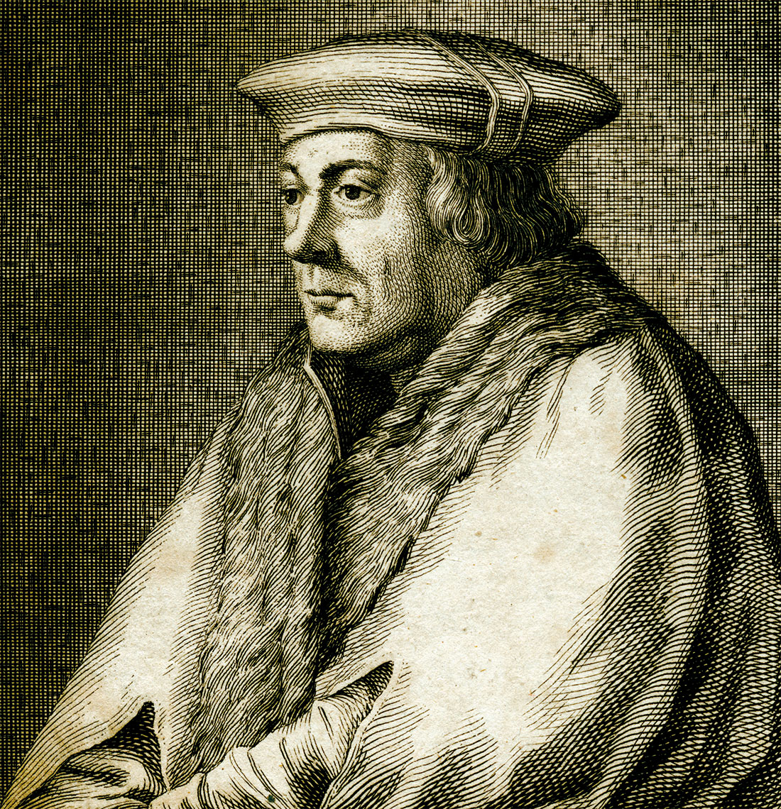 Brewer's son: Thomas Cromwell, after Hans Holbein the Younger, engraving, 17th century.