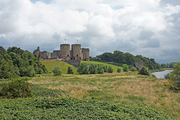 Scene of surprise: Rhuddlan Castle, Denbighshire, North Wales