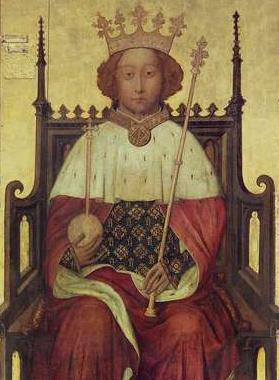 Portrait Richard II of England, mid-1390s