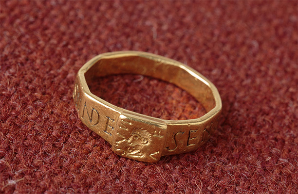 Fit for a Lord: the gold ring now at The Vyne