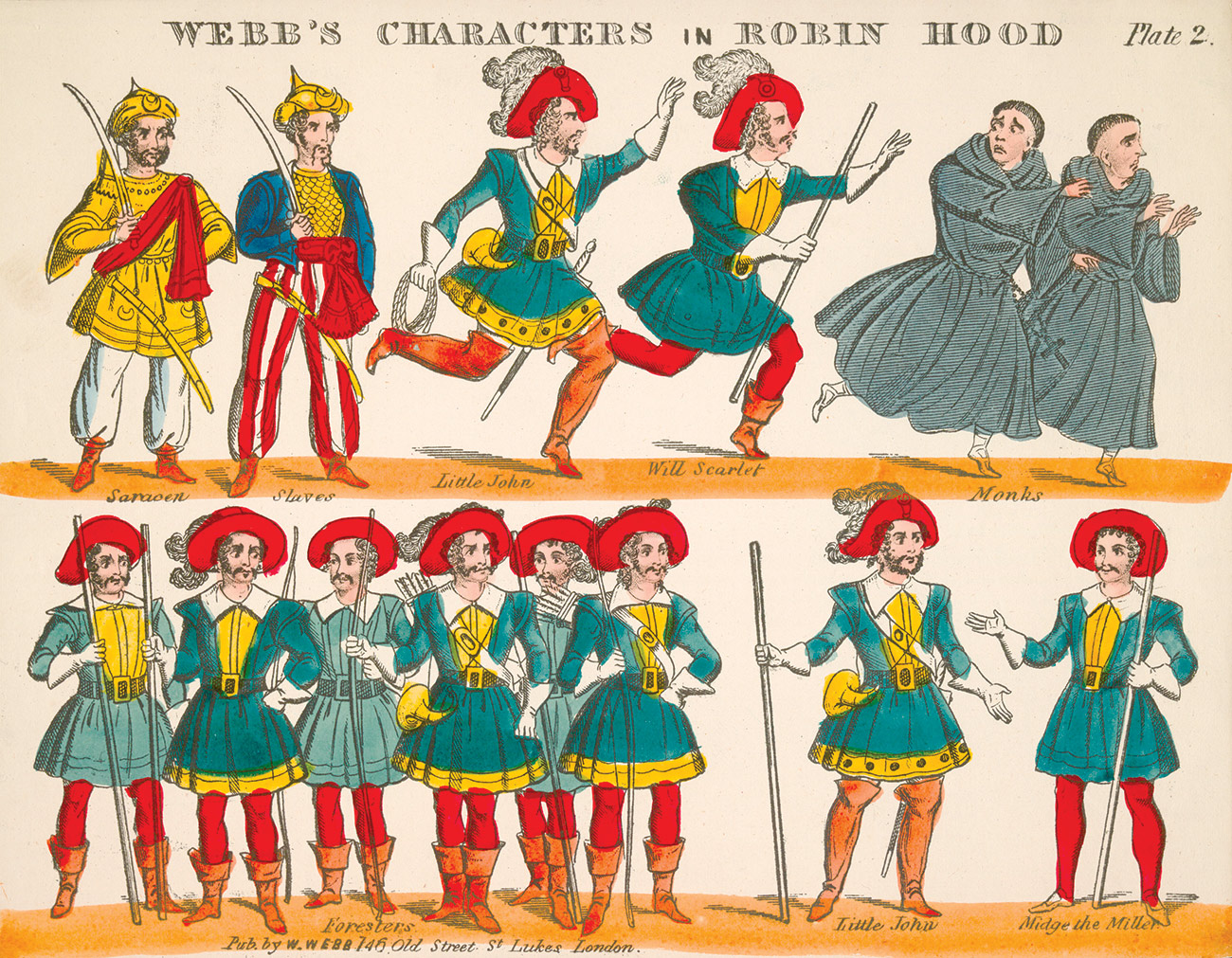 Illustration for Webb's Scenes and Characters in Robin Hood, c.1850.