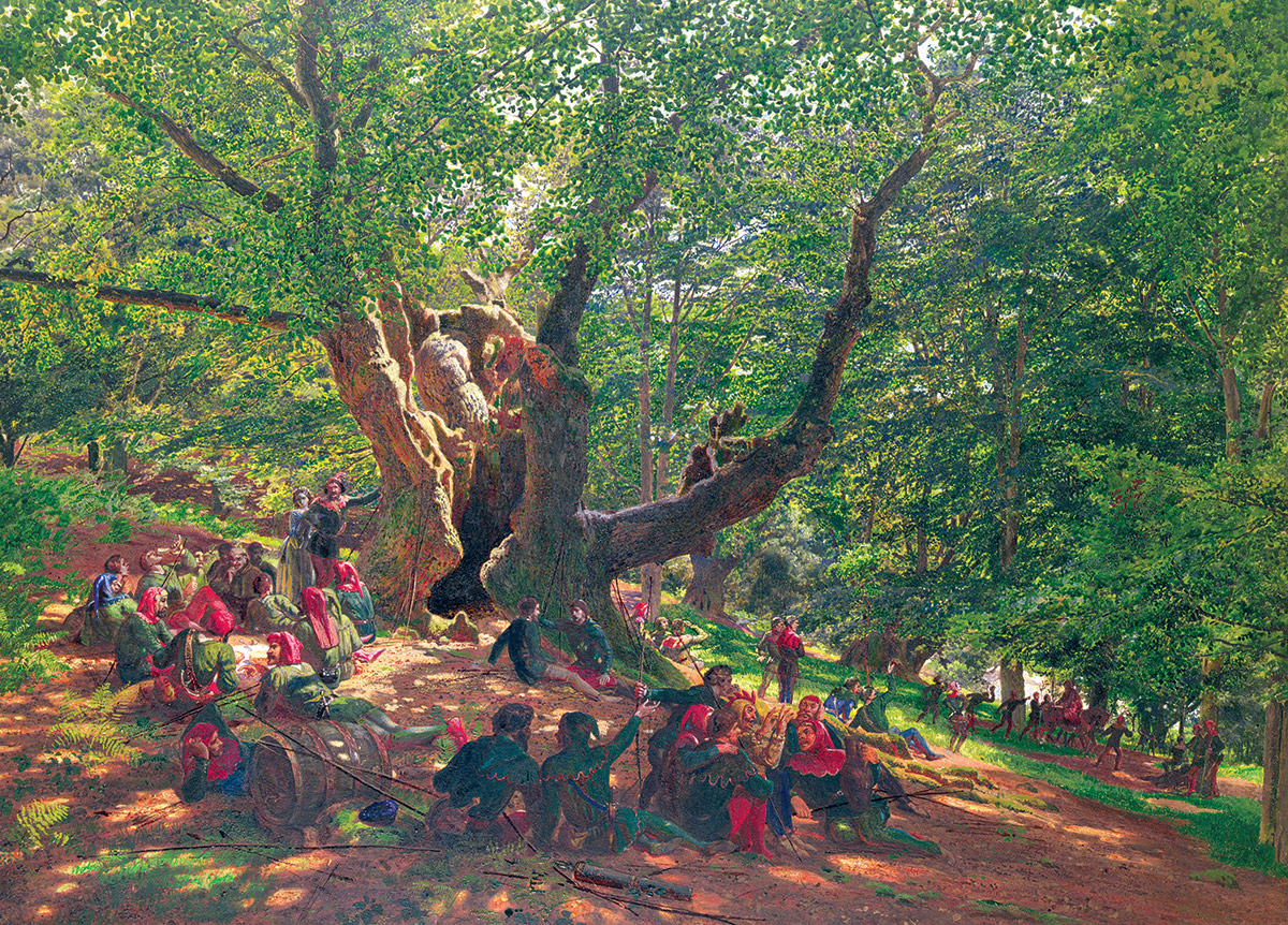 Robin Hood and his Merry Men in Sherwood Forest, Edmund George Warren, 1859.