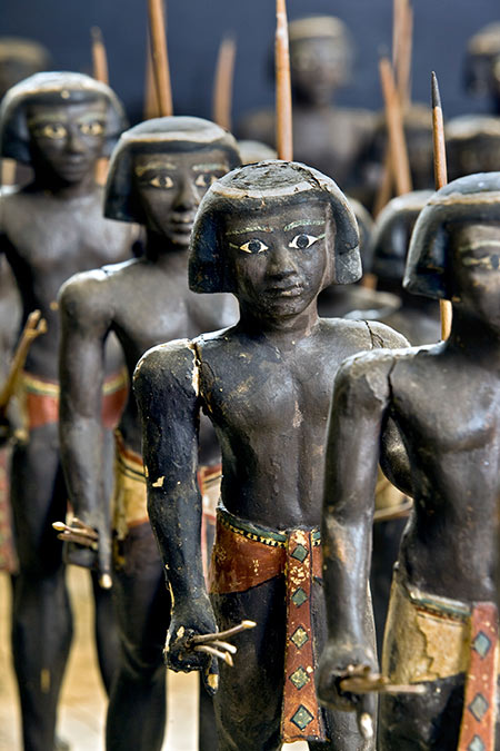 Painted wooden model of Nubian soldiers found in an Egyptian tomb, Middle Kingdom, c.2100-1990 BC