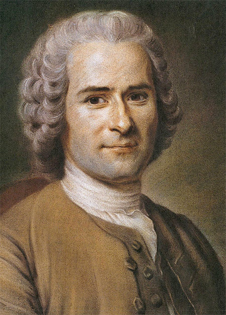 Jean-Jacques Rousseau in 1753, by Maurice Quentin de La Tour