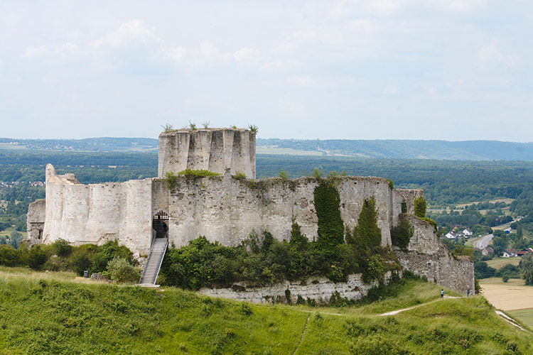 Gaillard Castle in Normandy, taken from John by Philip II after a six-month siege.