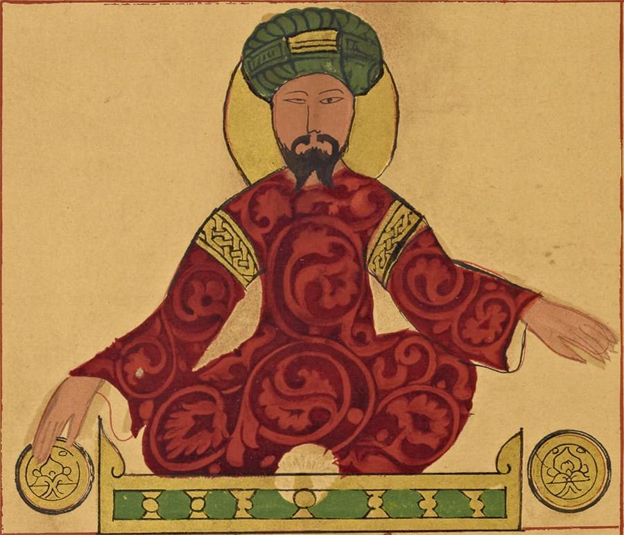 Possible portrait of Saladin, found in a work by Ismail al-Jazari, circa 1185