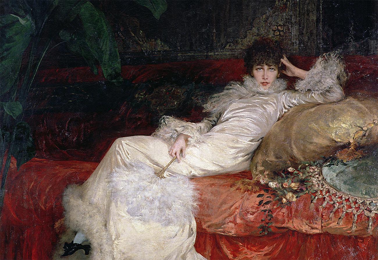 Sarah Bernhardt by Georges Clarin, 1876.
