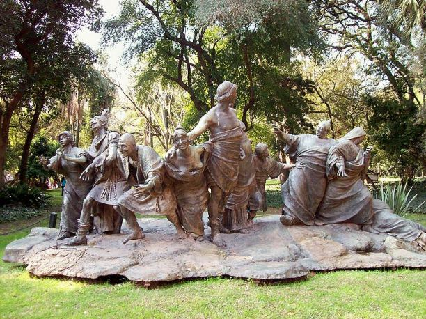 Saturnalia by Ernesto Biondi (1909), at the Buenos Aires Botanical Gardens