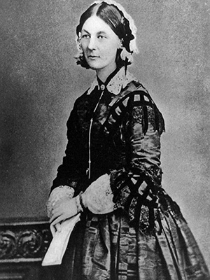 Florence Nightingale in 1856. Library of Congress