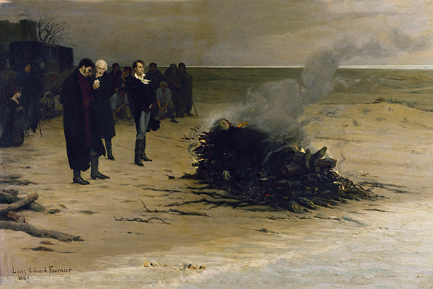 The Funeral of Shelley by Louis Édouard Fournier, 1889.