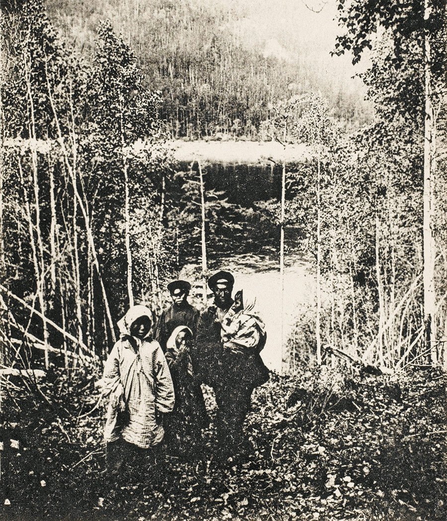 A family of Buryats, northern Siberia, 1903.