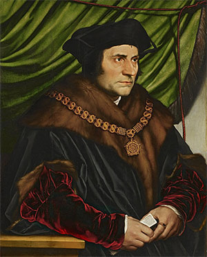 Thomas More, painted by Hans Holbein the Younger